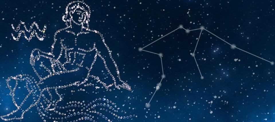 Звездное небо рисунок созвездия водолей