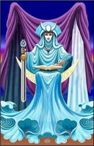 Interpretarea si semnificatiile cartii de Tarot Marea Preoteasa 2